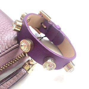 NWT Juicy Couture Leather Stone Bracelet Purple
